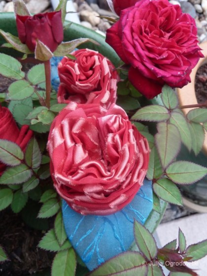 Crêpe Satin Red Rose