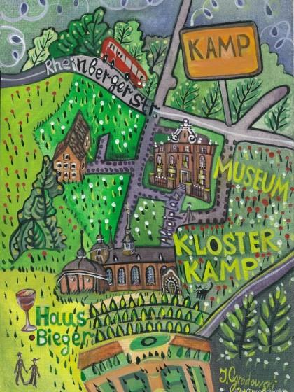 Plan de la ville de Kamp-Linfort