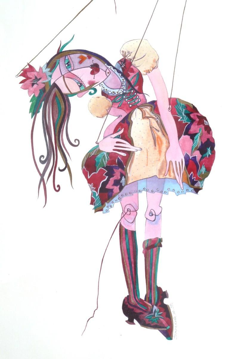 """""""Marionette"""", 1999, Aquarell auf Papier"""
