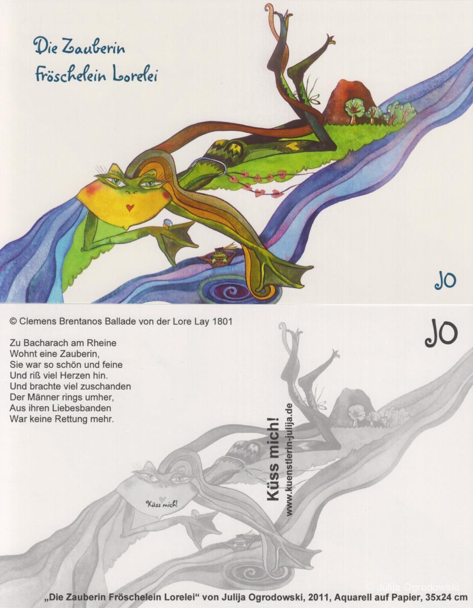 Postkarte Ballade von der Lore Lay - Julija Ogrodowski