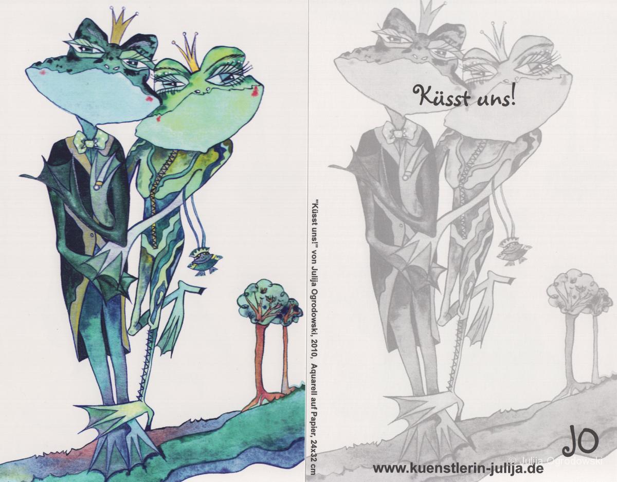 Postkarte Küsst uns - Julija Ogrodowski