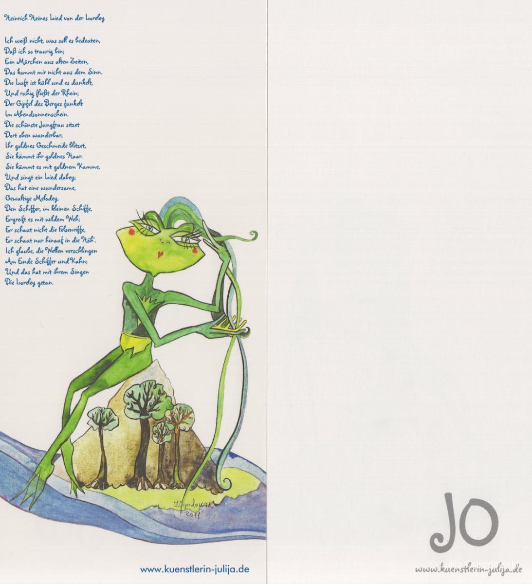 Postkarte Lied von der Loreley - Julija Ogrodowski