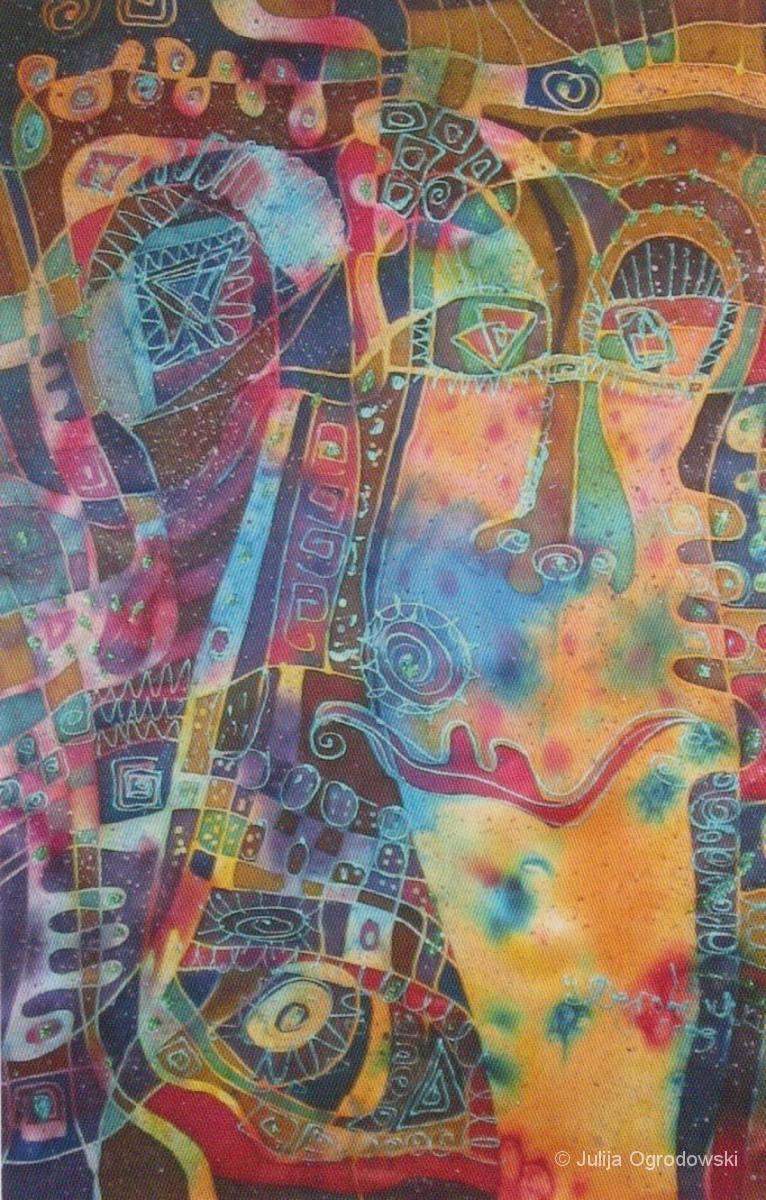 Postkarte Serie Denkformen abstrakt - Julija Ogrodowski