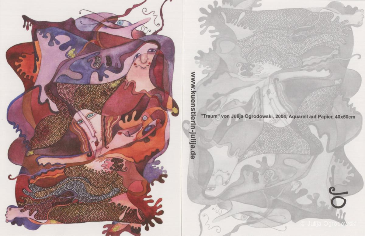 Postkarte Traum - Julija Ogrodowski