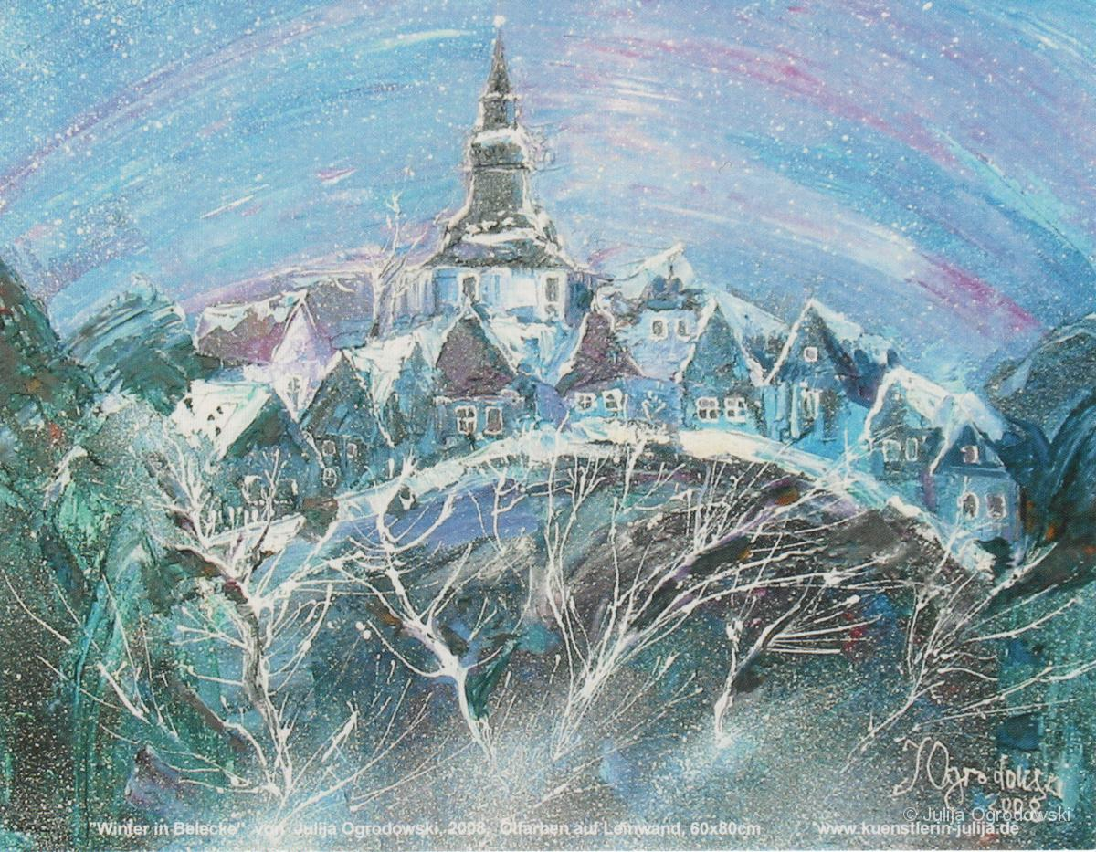 Postkarte Winter in Belecke - Julija Ogrodowski