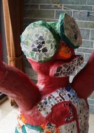 """""""Skulptur aus Betonmasse"""" (LIOBA-Grundschule in Warstein-Suttrop)"""