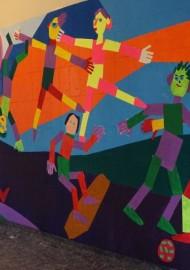 """Kunstprojekt """"Wandgestaltung mit Farben"""" (Petri-Grundschule in Soest)"""