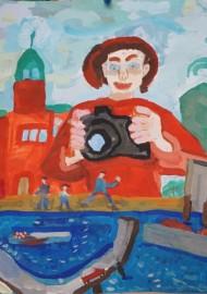 """""""Entdekungsreise und Abenteuer in Sankt Petersburg"""" (Ortssiegerbild und Landesförderpreis NRW beim Internationalen Jugendwettbewerb """"jugend creativ 2015"""") von Semjon Ogrodowski"""