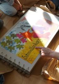 """Buchprojekt """"Meine schöne Stadt"""" mit dem Kindergarten Zwergenland und mit der Jugendkunstschule Schmallenberg"""